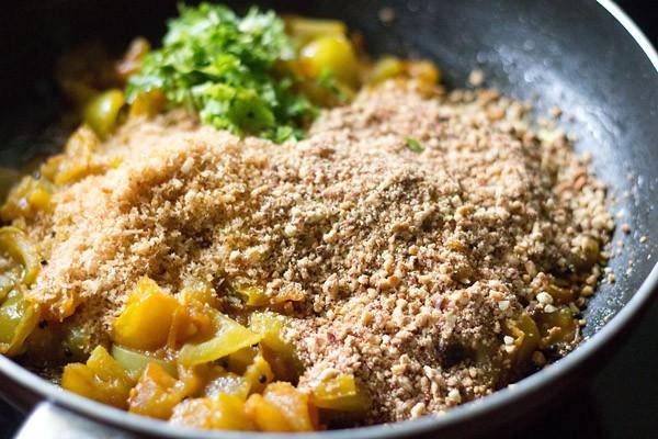 peanut powder for tomato sabji recipe