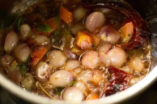 making onion sambar recipe