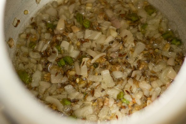 onions for aloo jhol recipe