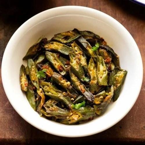 bhindi fry recipe, bhindi sabzi recipe