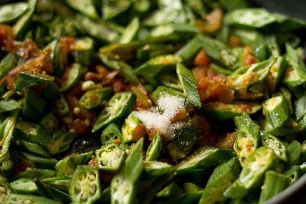 salt for bhindi fry recipe