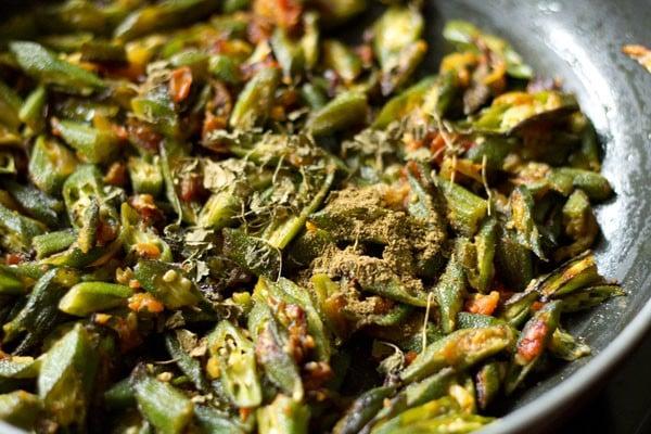 spices for Punjabi bhindi fry