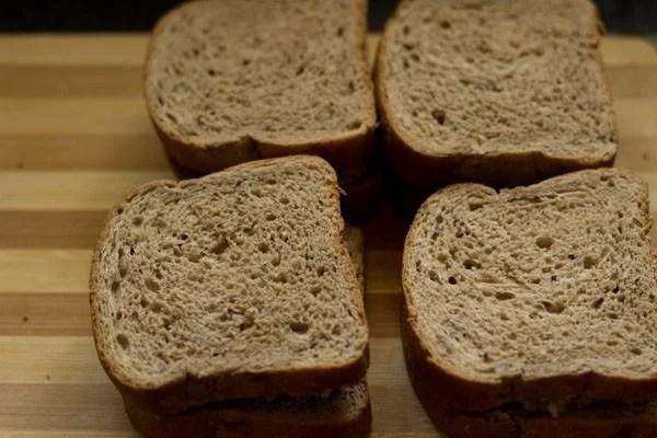 making capsicum toast sandwich recipe