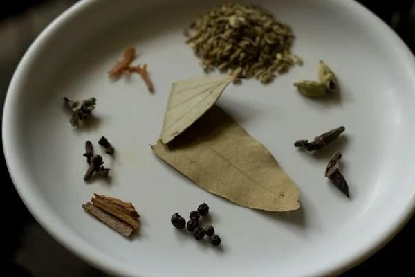 spices for chettinad mushroom biryani recipe