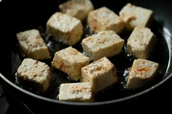 frying paneer for chili paneer dry recipe