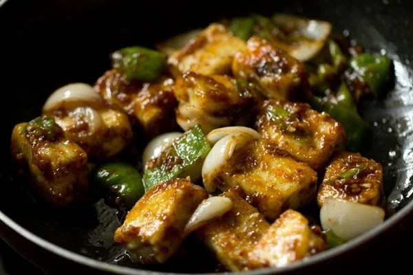 making chili paneer dry recipe