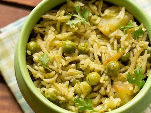 coriander rice recipe
