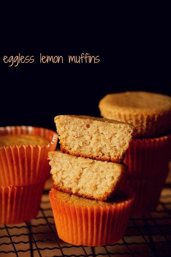 lemon muffins, eggless lemon muffins
