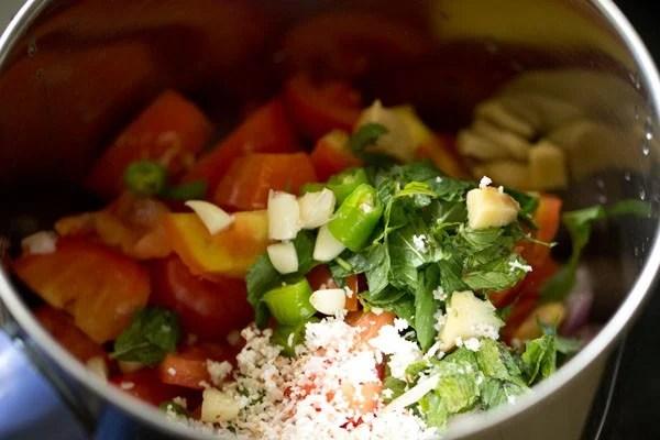 ingredients for shorba or sherva recipe