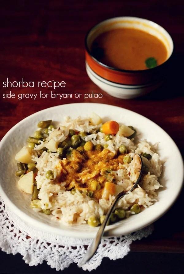 shorba recipe, side gravy for biryani
