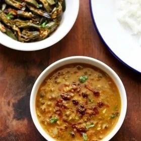 green moong dal recipe, green gram curry recipe, sabut moong dal recipe