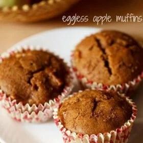 apple muffins, eggless apple muffins recipe