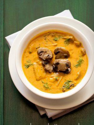 mushroom butter masala recipe