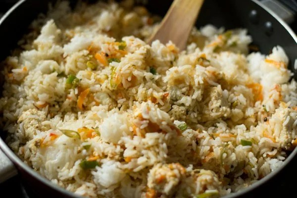 making paneer fried rice recipe