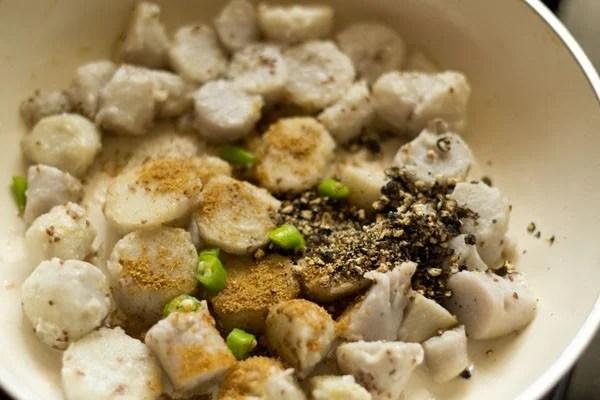 spices for arbi fry recipe