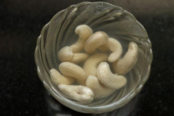 saoked cashews