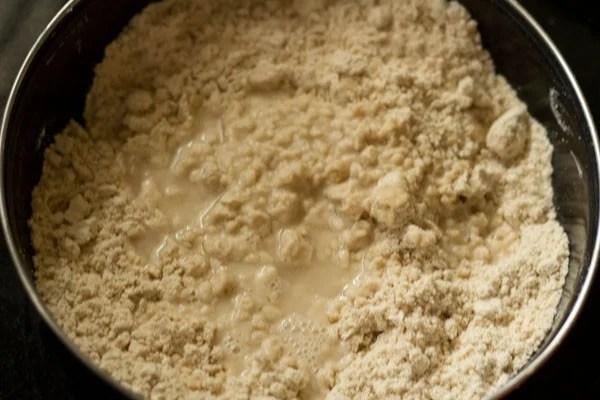 making dough for shakkar pare recipe