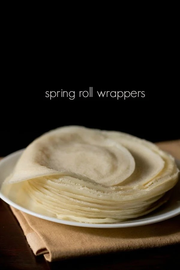 spring roll sheets, spring roll wrappers recipe