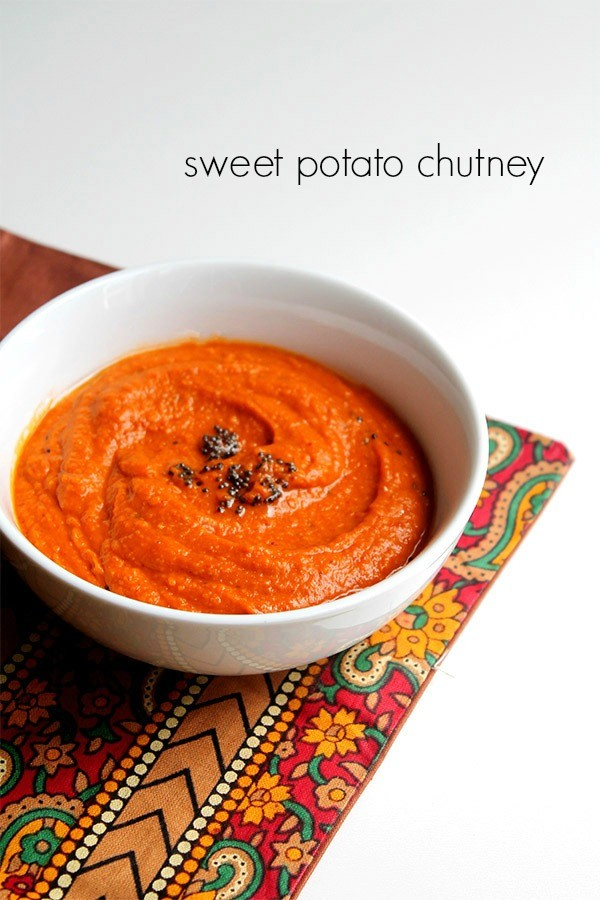 sweet potato chutney recipe how to make south indian sweet potato chutney recipe