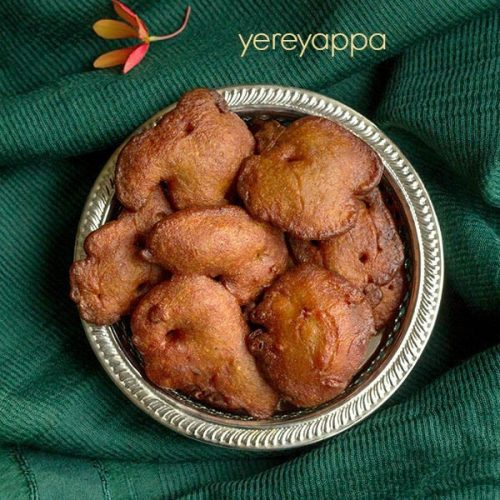 yereyappa recipe, karnataka rice appams recipe, sweet appams recipe