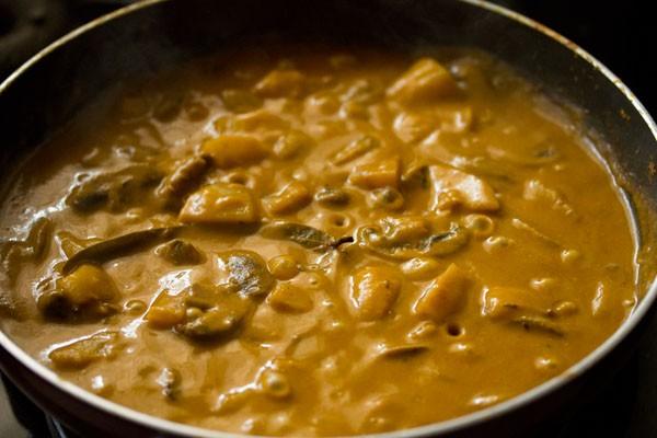 cooked potato mushroom