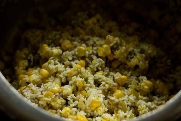 mix corn pulao