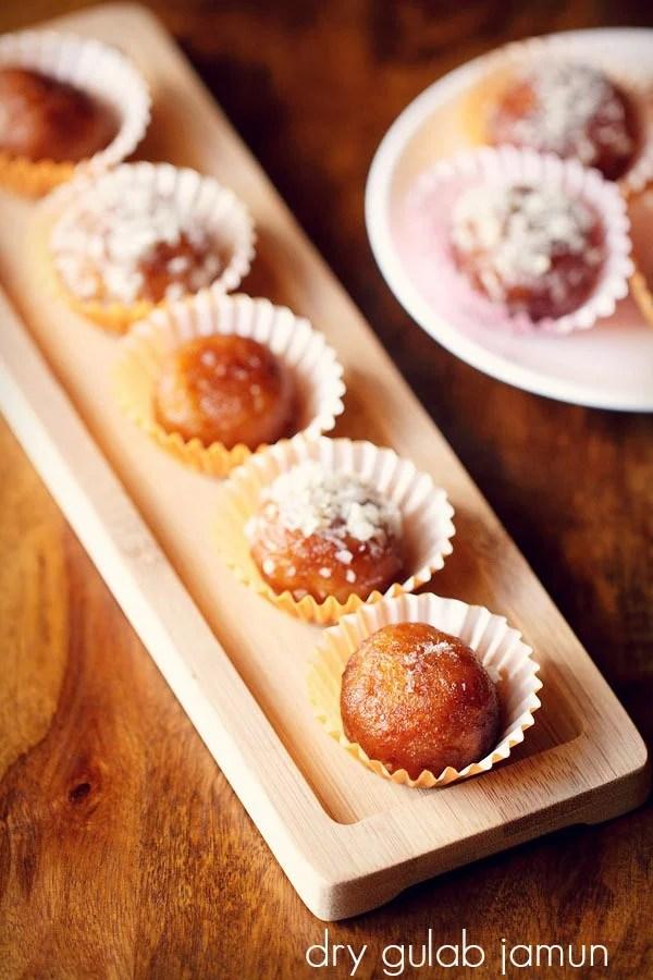 dry gulab jamun recipe