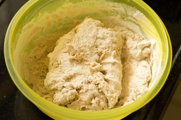 kneading pav dough