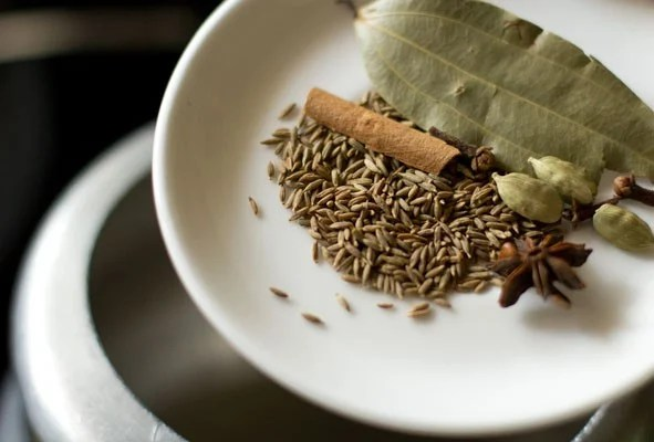 spices for baby corn pulao recipe