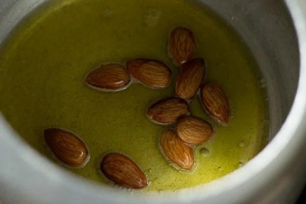 almonds for Mughlai biryani recipe