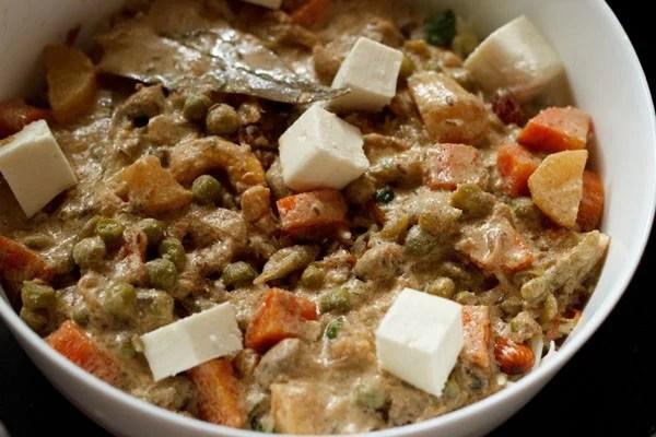 vegetable gravy for Mughlai biryani