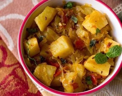 aloo patta gobhi sabzi recipe