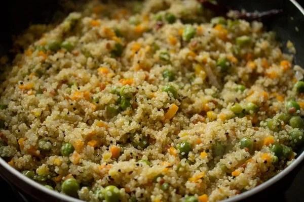 cooking quinoa upma