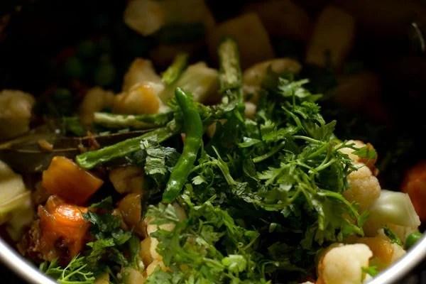 mint for veg tahiri recipe