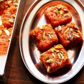 carrot barfi recipe, gajar burfi recipe