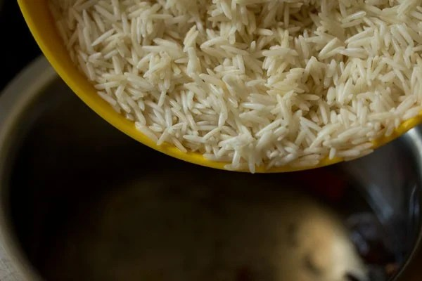 rice for chole biryani recipe