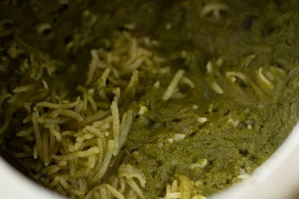 palak rice recipe, spinach rice recipe, palak pulao recipe