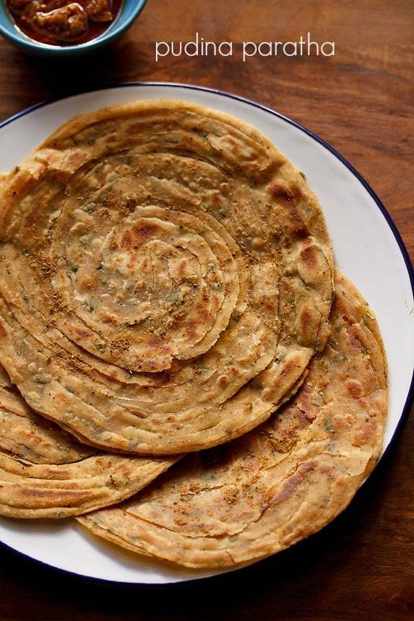 pudina paratha recipe