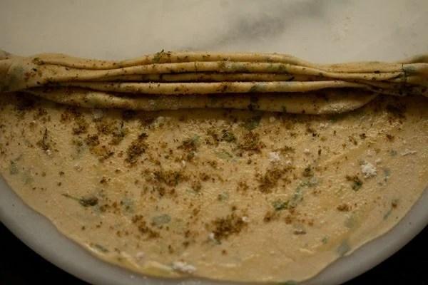 making mint paratha recipe
