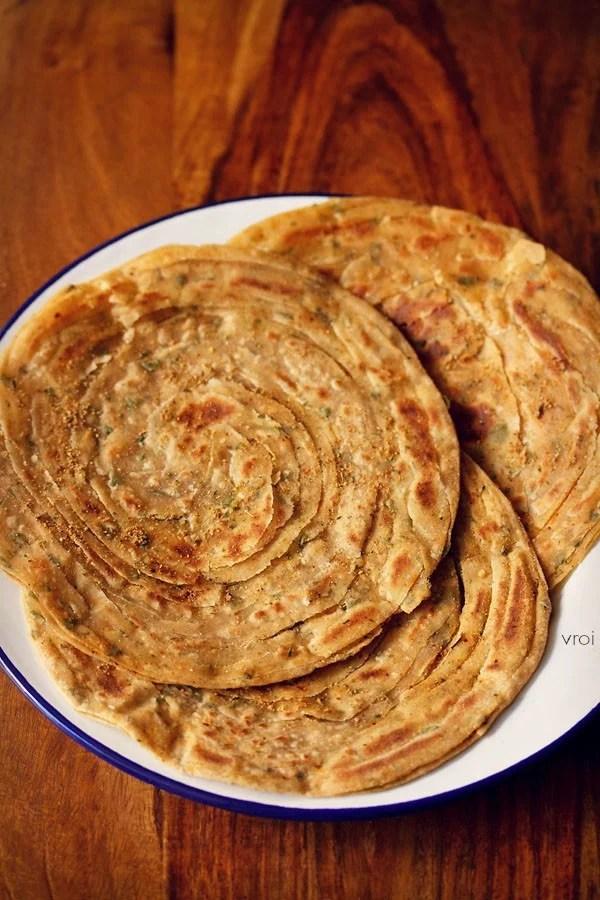 restaurant style pudina paratha recipe
