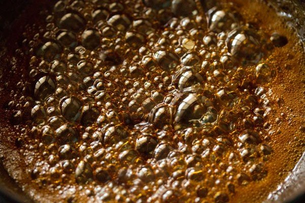 cooking jaggery syrup