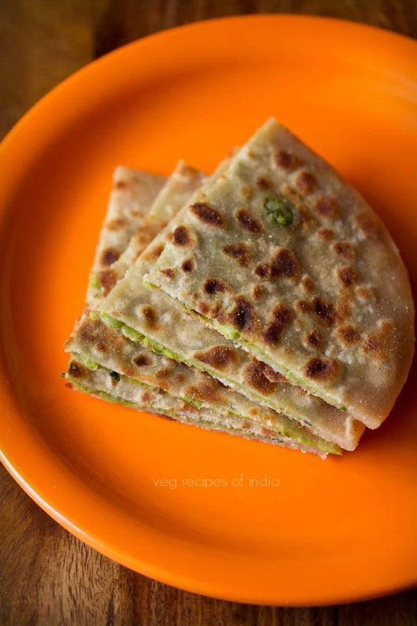 green peas paratha recipe