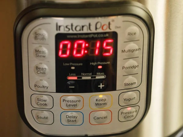 pressure cooking dal in instant pot