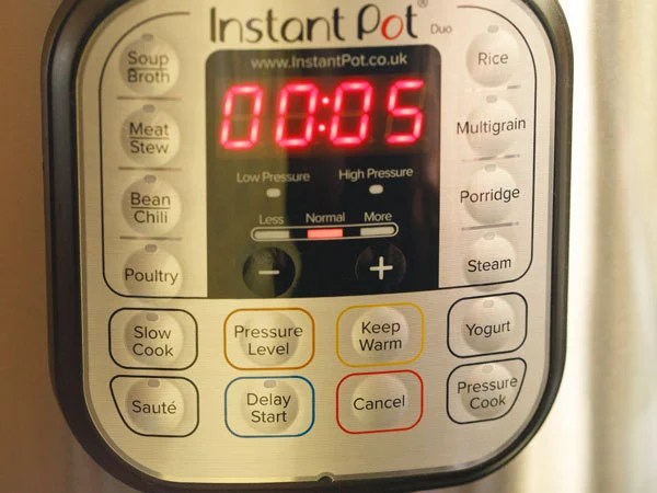 saute button enabled in instant pot