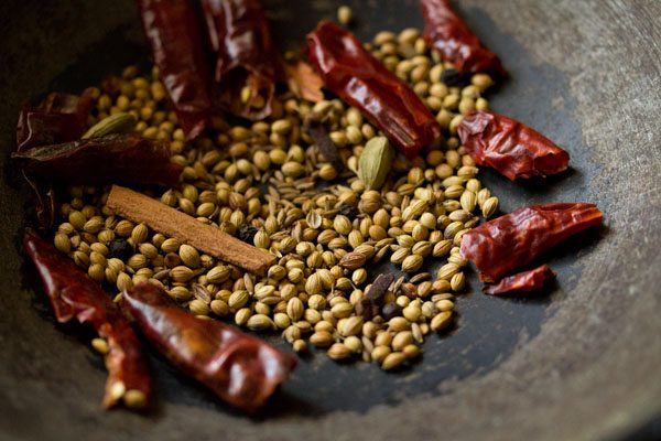 dry roasting whole spices