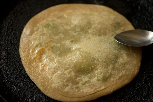 making peas paratha recipe
