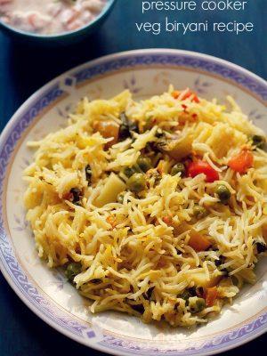 vegetable biryani in pressure cooker
