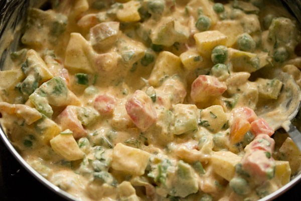 making veg biryani recipe in cooker