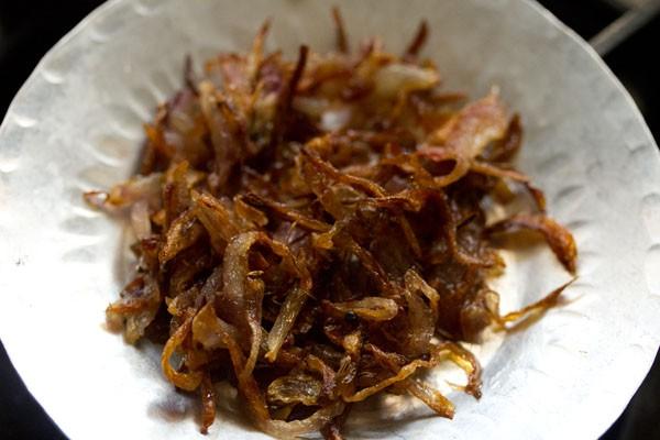 preparing veg biryani recipe