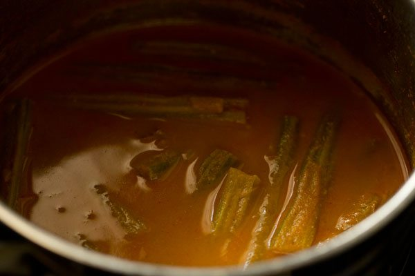 making drumstick coconut curry recipe